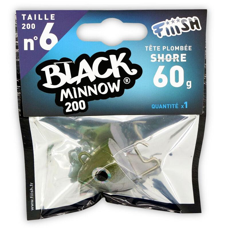 Tete plombee fiiish black minnow 200 shore 60g (x1) - Têtes Plombées | Pacific Pêche