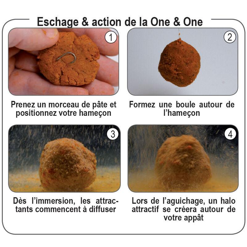 Pâte d'eschage coup fun fishing one and one green n'butyric 500g - Eschage | Pacific Pêche