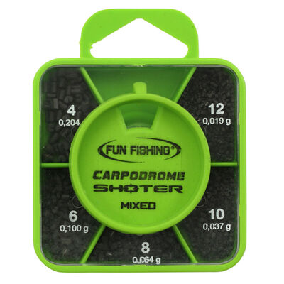 Plombs fil droit fendus coup fun fishing shoter box mixed n°4-6-8-10-12 - Plombs Fendus | Pacific Pêche