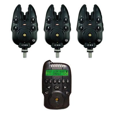 Coffret 3 détecteurs wolf icon qi + centrale hubb - Coffrets détecteurs | Pacific Pêche