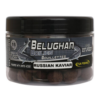 Bouillettes carpe fun fishing esturgeon bouillettes 300gr-15mm russian kaviar - Denses | Pacific Pêche