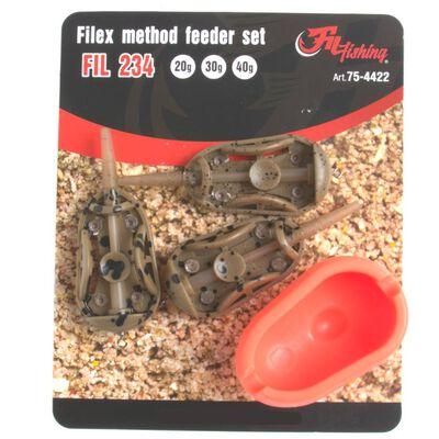 Kit de 3 method feeder de 20/30et40g + moule à feeder - Cages feeder | Pacific Pêche