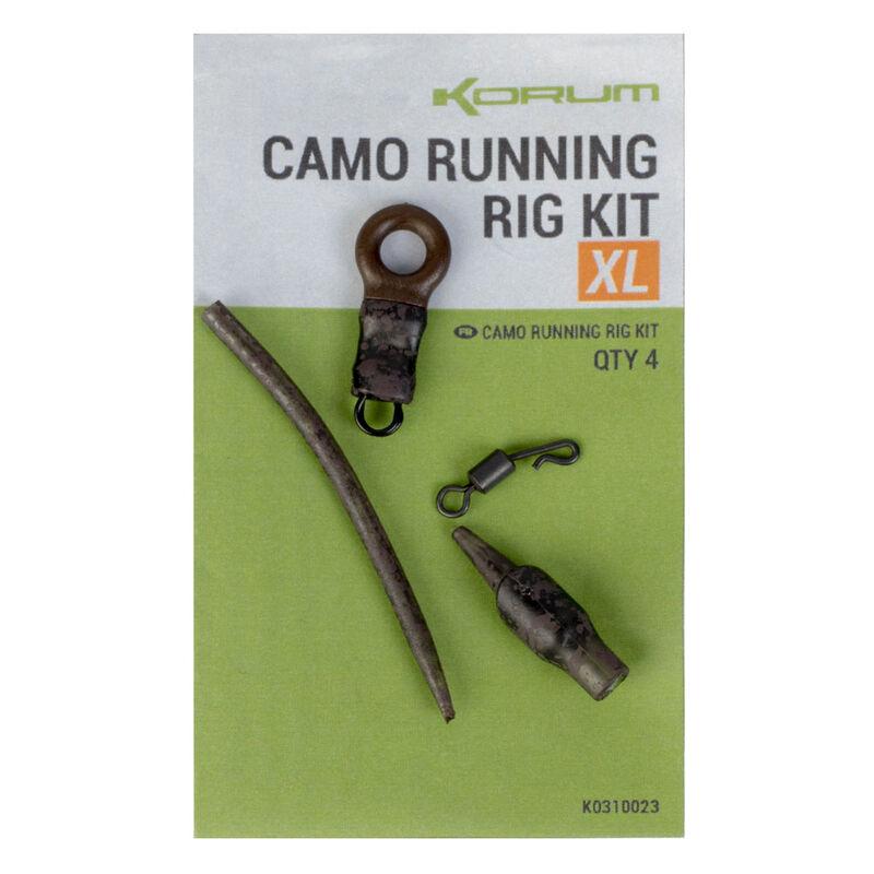 Kit de monatge korum camo running rig kit (4 piéces) - Emerillons / Agrafes / Perles | Pacific Pêche