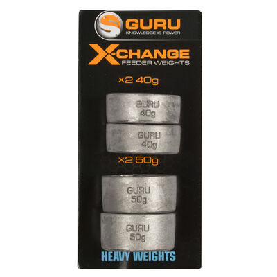 Plombs pour cages feeder coup guru x-change distance feeder weights heavy (x4) - Cages Feeder | Pacific Pêche