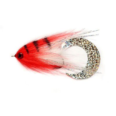 Mouche à brochet silverstone broc wiggle red 6/0 - Streamers | Pacific Pêche