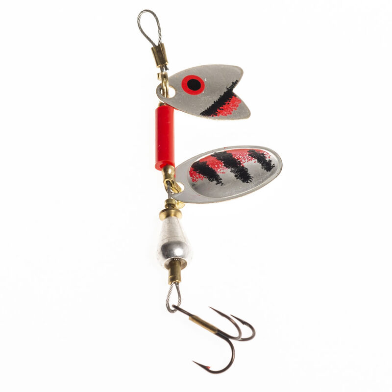 Cuillère tournante truite mepps tandem truite argent/rouge noir (x1) - Cuillères | Pacific Pêche