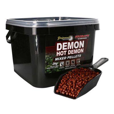 Seau de 2 kg starbaits demon hot demon pellet mixed - Amorçages   Pacific Pêche