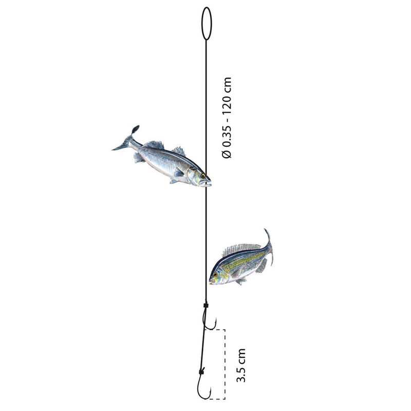 Bas de ligne flashmer montage à couteau - Bas de Lignes / Lignes Montées | Pacific Pêche