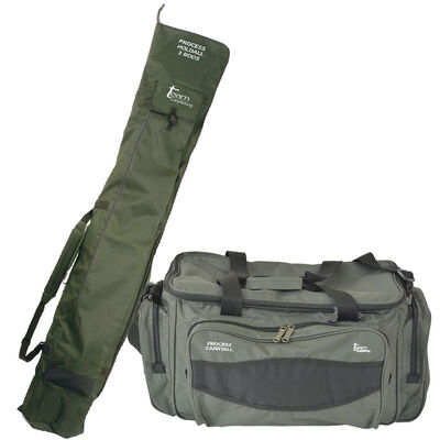 Pack bagagerie team carpfishing carryall process + fourreau holdall 3 cannes - Packs | Pacific Pêche