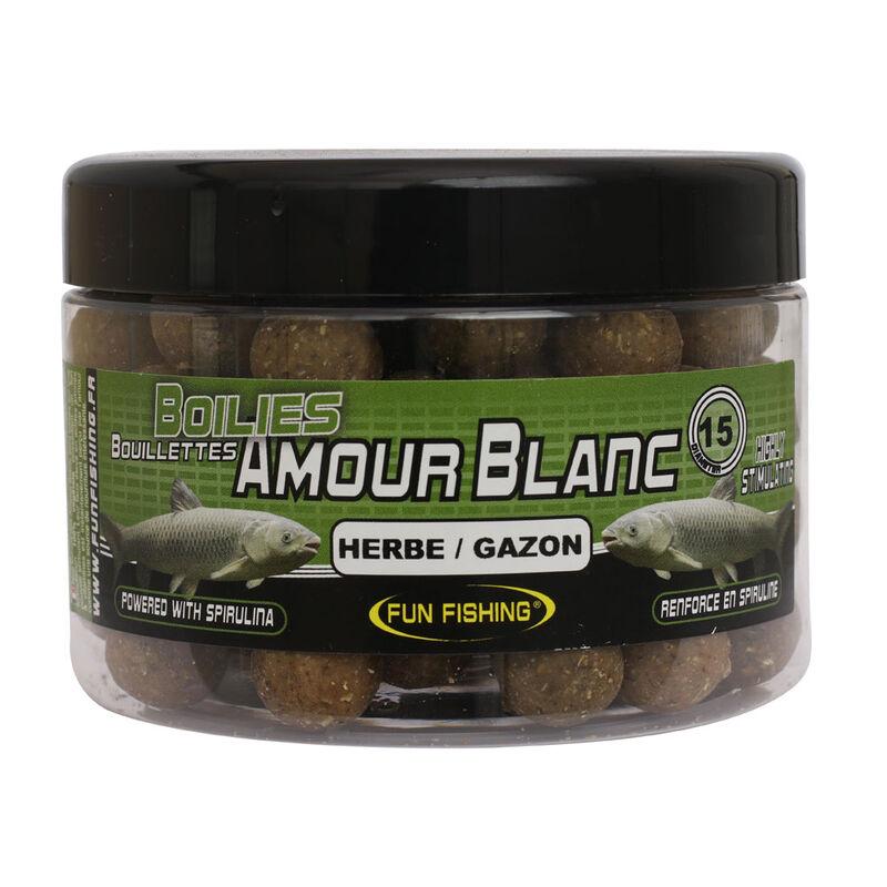 Bouillettes pour amour blancs fun fishing herbe gazon 250gr -15mm - Denses   Pacific Pêche