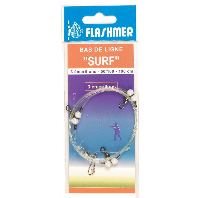 Bas de ligne mer flashmer surf 2 emerillons - Bas de Lignes / Lignes Montées | Pacific Pêche