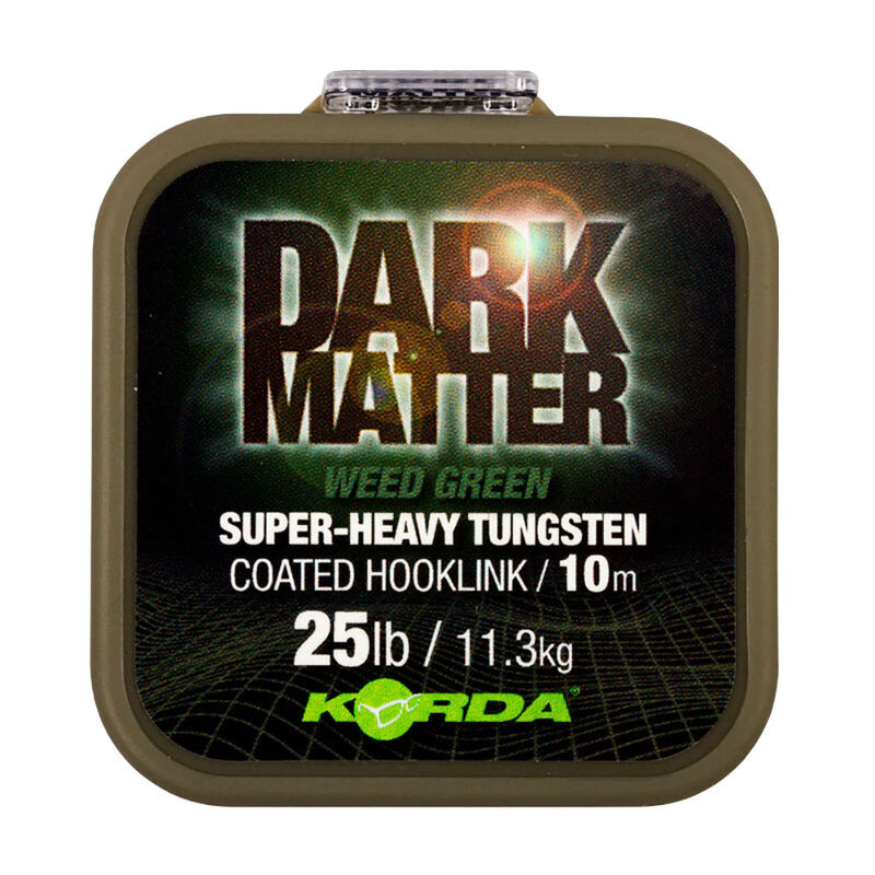 Tresse à bas de ligne korda dark matter tungsten coated braid weed green 10m - Tresse BDL   Pacific Pêche