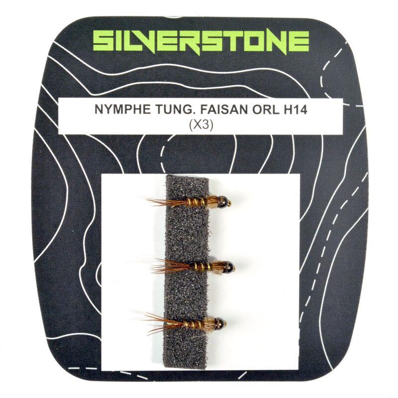 Mouche silverstone nymphe tungstène faisan orl h14 (x3) - Nymphes | Pacific Pêche