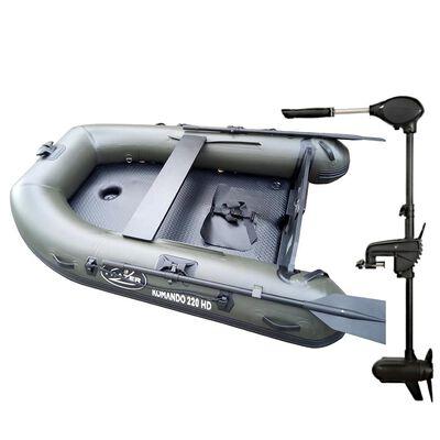 Pack bateau komando 220hd + moteur frazer 65lbs - Pneumatiques   Pacific Pêche
