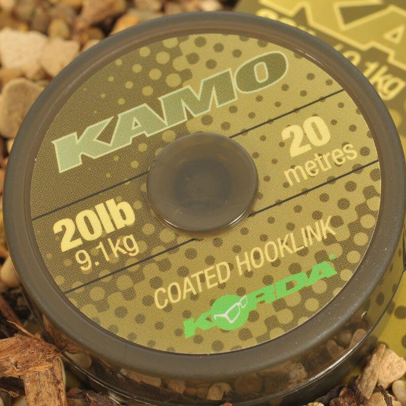 Tresse gainée carpe korda kamo coated hooklink (20m) - Tresse BDL | Pacific Pêche