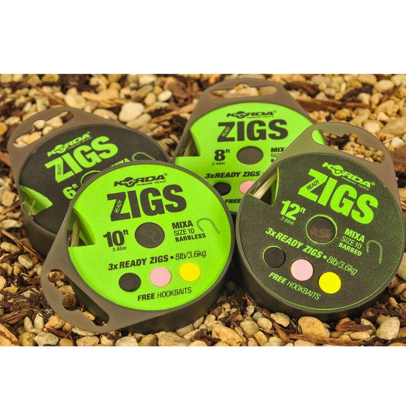 Montage zig rig carpe korda ready zigs taille 10 (x3) - ZIG   Pacific Pêche