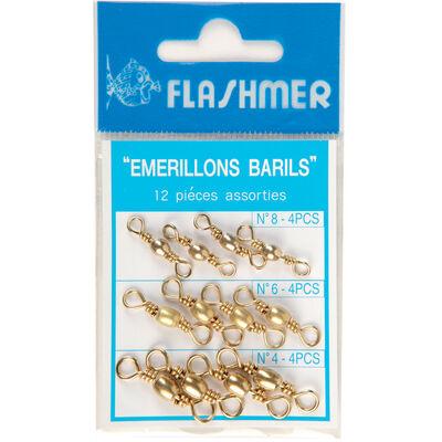 Emerillons barils flashmer kit de 12 - Emerillons mer | Pacific Pêche