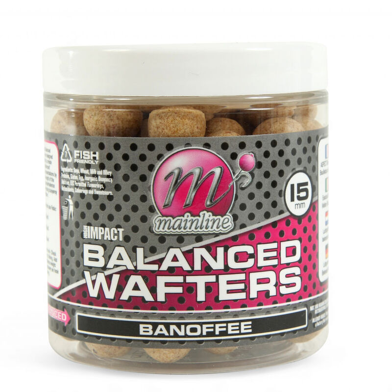 Bouillettes équilibrées carpe mainline high impact balanced wafters banoffee - Equilibrées | Pacific Pêche