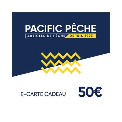 E-carte cadeau pacific pêche 50 euros - Cartes cadeau | Pacific Pêche