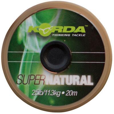 Tresse à bas de ligne carpe korda super natural 25lbs - Tresse BDL | Pacific Pêche
