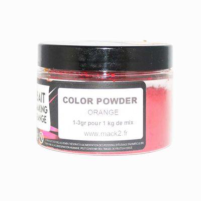 Colorant poudre carpe mack2 orange 50g - Additifs | Pacific Pêche