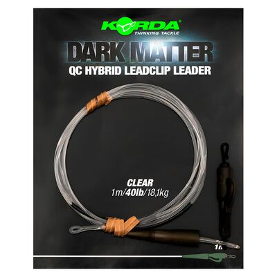 Leader korda dark matter leader 1m qc hybrid clip - Leaders | Pacific Pêche