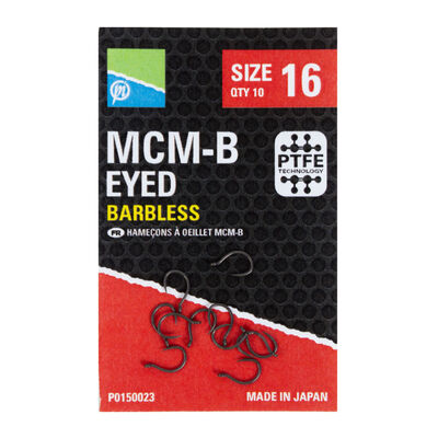 Hameçons preston mcm-b eyed barbless (10 pièces par pochette) - Hameçons | Pacific Pêche