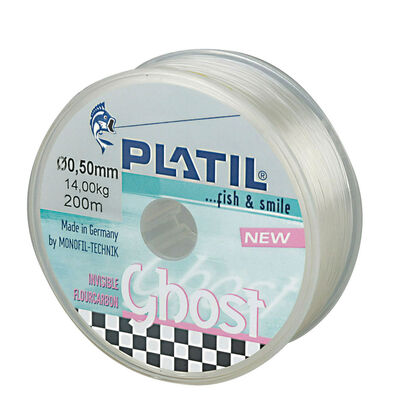 Fluorocarbone carnassier platil fluoro ghost 200m - Fluorocarbones | Pacific Pêche