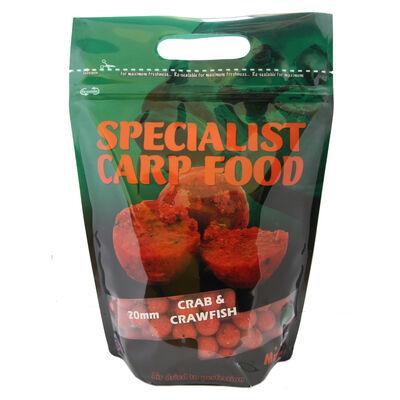 Bouillettes carpe mistral specialist range crab crawfish boilies 20mm 1kg - Denses | Pacific Pêche