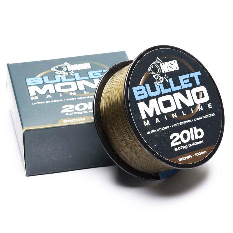 Nylon nash bullet mono brown 1000m - Monofilament   Pacific Pêche