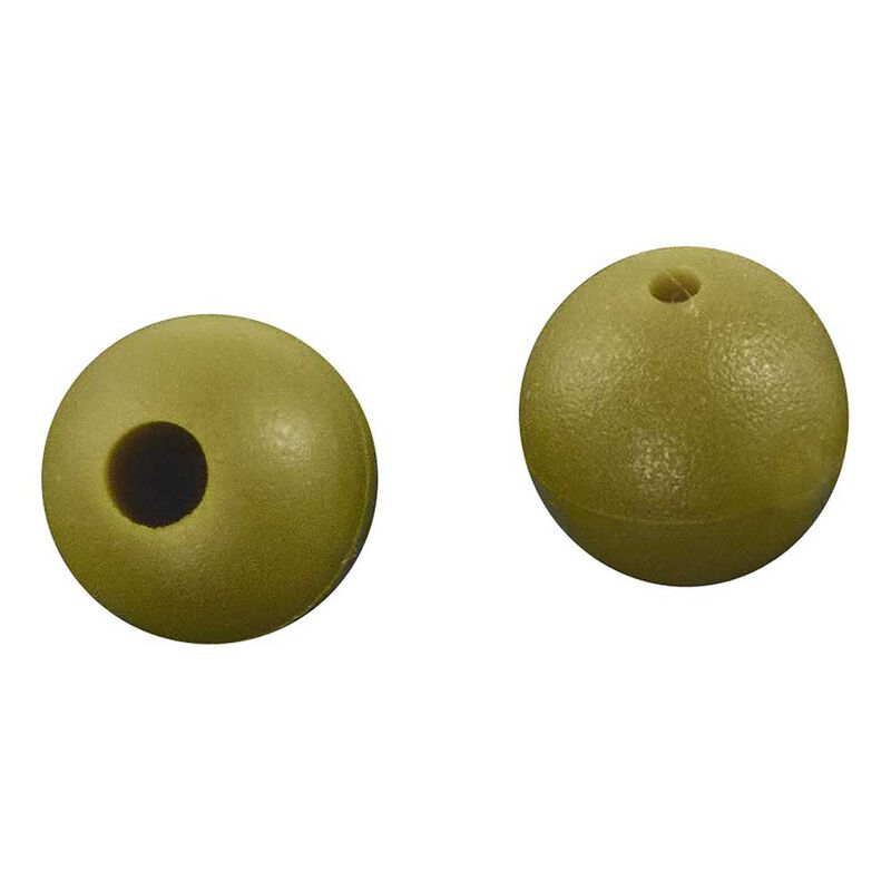 Perles rok rubber beads green 6mm - pochette de 25 - Perles | Pacific Pêche