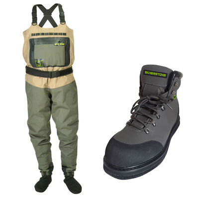 Pack wading silverstone wader hardwater pro + chaussures rubber - Packs | Pacific Pêche