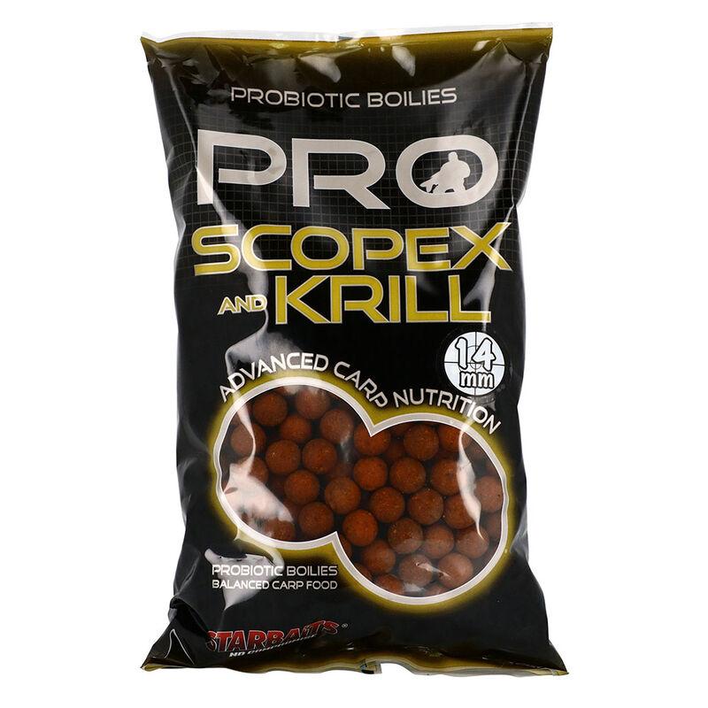 Bouillettes carpe probiotic scopex krill 14mm - Denses   Pacific Pêche