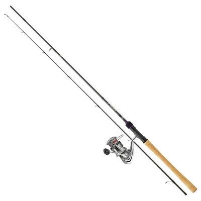 Ensemble truite aux leurres daiwa prorex s 602 lfs + crossfire lt 2000 xh 1,83m 3-10g - Canne + moulinet | Pacific Pêche