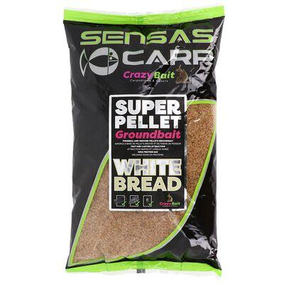 Amorce sansas crazy bait super pellet groundbait white bread 1kg - Amorces | Pacific Pêche