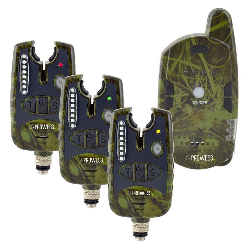 Coffret 3 détecteurs carpe prowess coffret kamalarm + centrale - Coffrets détecteurs | Pacific Pêche