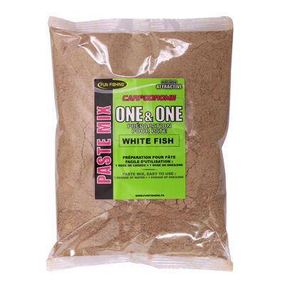 Pâte d'eschage coup fun fishing one and one white fish 500g - Farines | Pacific Pêche