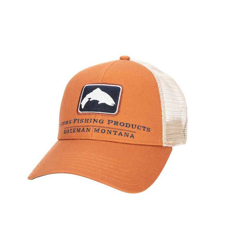 Casquette simms trout icon trucker orange - Casquettes / visières   Pacific Pêche
