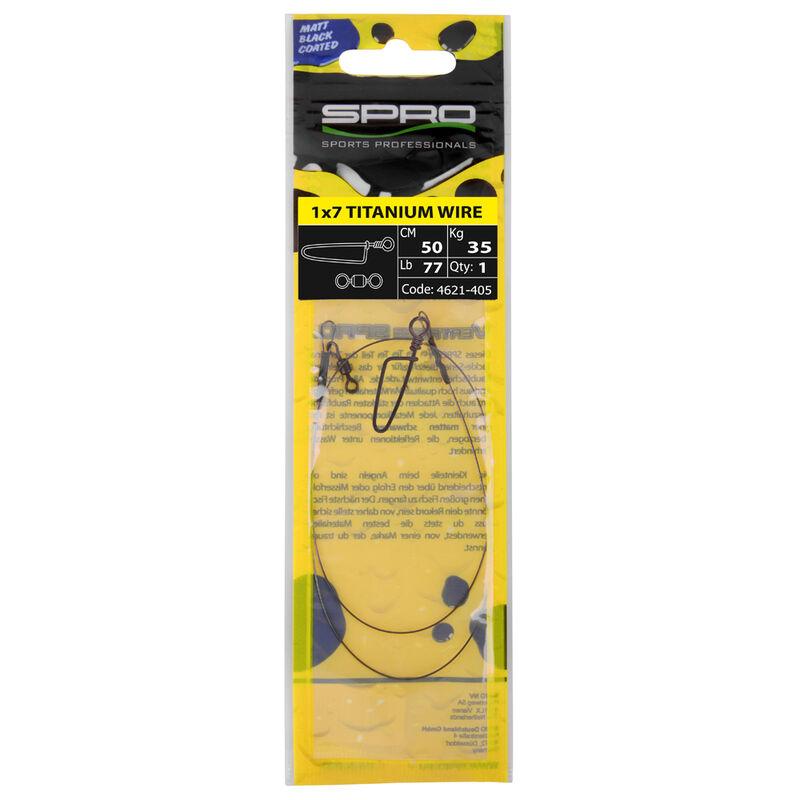 Bas de ligne monté carnassier spro matt black leader 1x7 titanium (x1) - Bas de ligne montés | Pacific Pêche