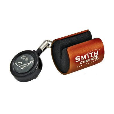 Accessoire smith creek rod clip orange avec zinger (bouton service) - Accessoires Divers   Pacific Pêche
