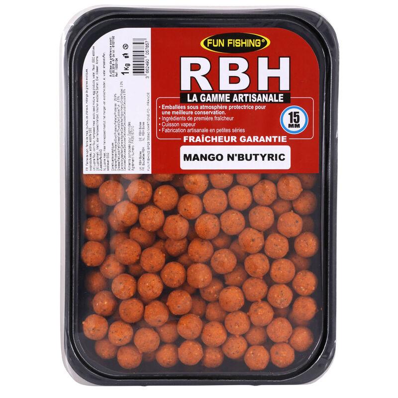 Bouillettes carpe fun fishing rbh boilies mango n'butiric 1kg - Denses   Pacific Pêche