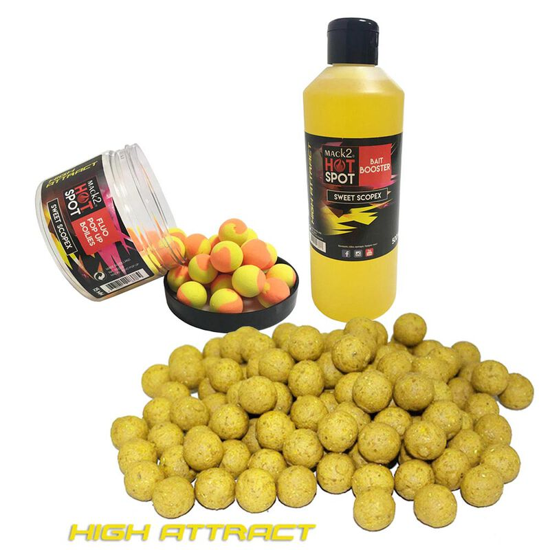 Pack week end mack2 high attract sweet scopex  5kg + booster + popup - Packs | Pacific Pêche