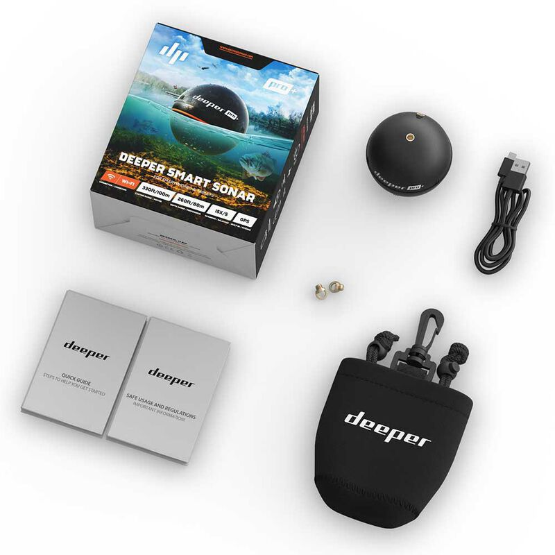 Pack deeper pro + sonar/gps + couvercle jaune+ fixation smartphone - Sondeurs/Gps | Pacific Pêche