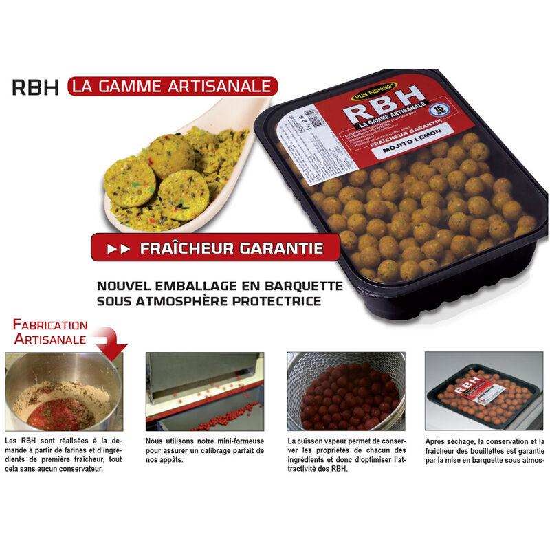 Bouillettes carpe fun fishing rbh boilies spice bomb 1kg - Denses   Pacific Pêche