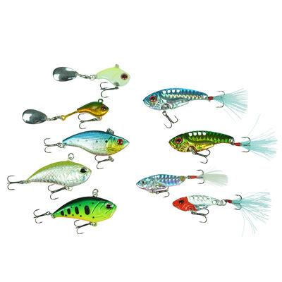 Kit de leurres carnassier redfish 9 poissons nageurs vibration - Packs | Pacific Pêche