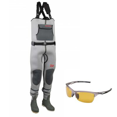 Pack daiwa wader mixte neoprene + lunettes polarisantes - Waders | Pacific Pêche