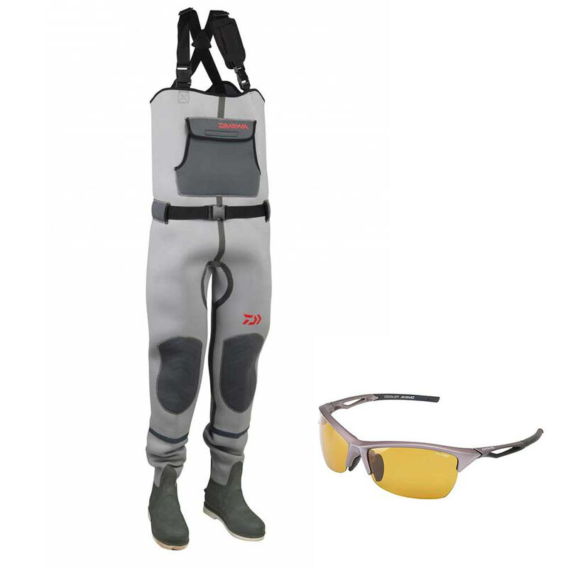 Pack daiwa wader mixte neoprene + lunettes polarisantes - Waders   Pacific Pêche