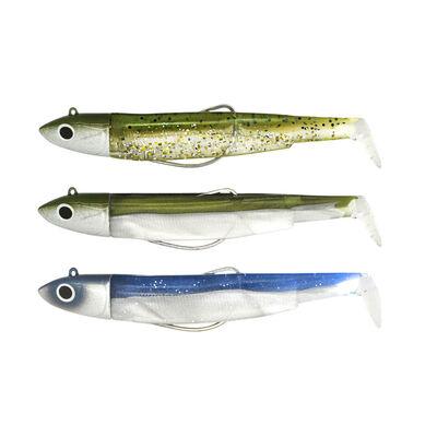 Leurres souples fiiish maxi combo black minnow 120 off shore 12cm 25g (x3) - Leurres shads | Pacific Pêche