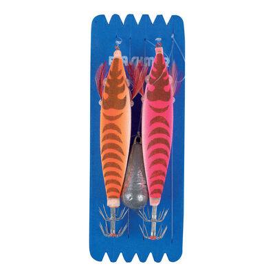 Bas de ligne mer flashmer seiche/encornet 2 turluttes - Turluttes | Pacific Pêche