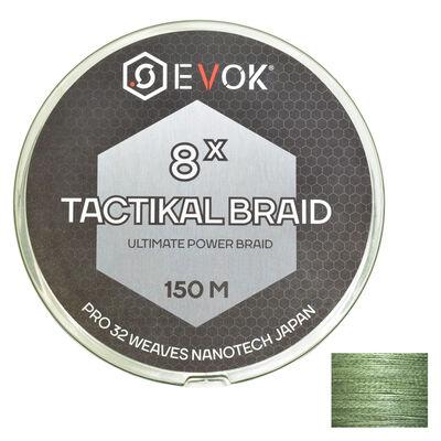 Tresse carnassier evok tactikal braid 8x green 8 brins 150m - Tresses | Pacific Pêche